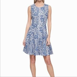 Tommy Hilfiger Denim Lace Fit and Flare Dress 6